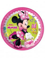 8 Piattini di carta Happy Minnie™