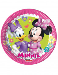 8 piattini di cartone Minnie Happy™