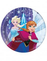 8 Piatti viola di carta Frozen™