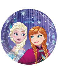 8 Piattini di carta viola Frozen™