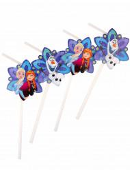 6 cannucce con decorazione a stella Frozen