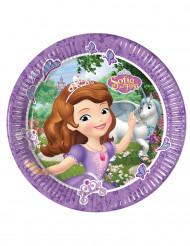 8 piatti in cartone Sofia la principessa e l'unicorno™