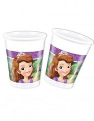 8 bicchieri in plastica Sofia la principessa e l