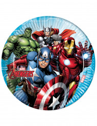 8 piatti di carta Avengers Mighty™