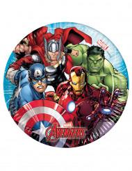 8 Piattini di carta Avengers Mighty™