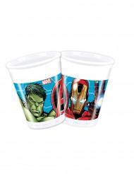 8 Bicchieri di plastica degli Avengers Mighty™