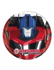 8 Piattini di carta Transformers RID™