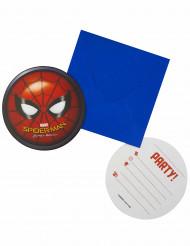 6 cartoline invito con busta Spiderman Homecoming™