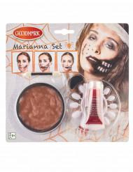 Kit trucco bocca da zombie adulto halloween