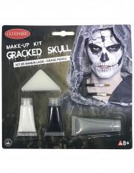 Kit trucco scheletro screpolato adulto halloween