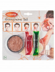 Kit trucco per ferita in cancrena adulto halloween