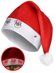 Cappello da Babbo Natale luminoso per adulto