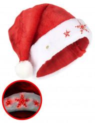 Cappello Babbo Natale fiocco di neve luminoso per adulti !