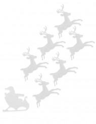 6 Renne in feltro bianco 16 cm Natale