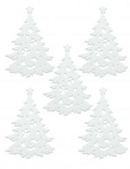 5 Alberi di natale decorativi bianchi