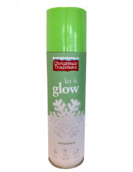 Bomboletta neve fosforescente spray di natale 150 ml