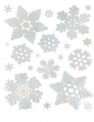Decorazioni fiocchi di neve 28x22 cm Natale