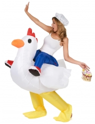Costume pollo gonfiabile per adulto Carry Me