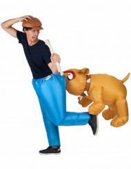 Costume da bulldog gonfiabile per adulto