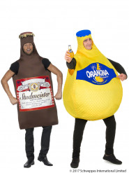 Costume di coppia bottiglia di Orangina e bottiglia di Birra