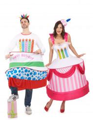 Costume di coppia torta di compleanno adulto