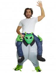 Costume uomo a dorso di alieno per adulto carry me