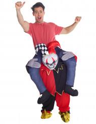 Costume carry me halloween giullare diabolico adulto