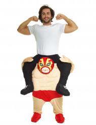 Costume Carry Me uomo sulle spalle di un lottatore di Wrestling