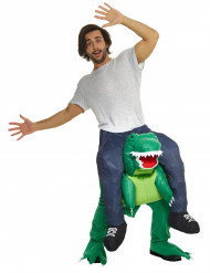 Costume uomo sulle spalle di dinosauro per adulto Carry Me