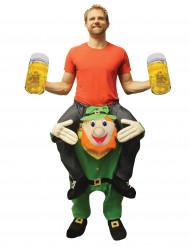 Costume sulle spalle dello gnomo per adulto Morphsuits™ San Patrizio