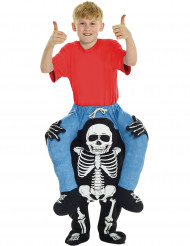 Costume carry me bambino su scheletro halloween