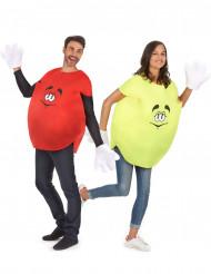 Costume coppia di caramelle gialla e rossa per adulti