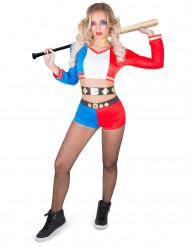 Costume da giullare psicopatico ribelle per donna