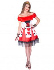 Costume dama di cuori per donna
