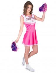 Costume da ragazza pompom rosa per donna