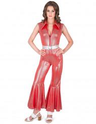 Costume tuta disco rossa per donna