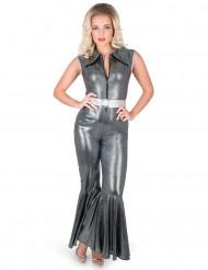 Costume tuta nera disco per donna