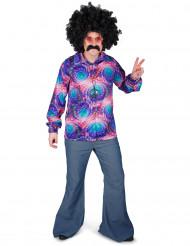 Camicia disco psicadelica uomo