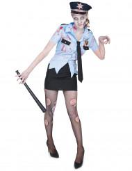 Costume poliziotta zombie per donna halloween