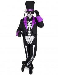 Costume Dia de los muertos viola da uomo per Halloween