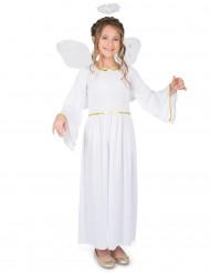 Costume angelo con bordini dorati Bambina
