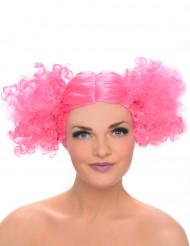 Parruca rosa riccia per donna
