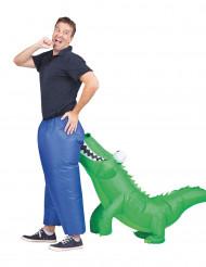 Costume gonfiabile coccodrillo per adulto
