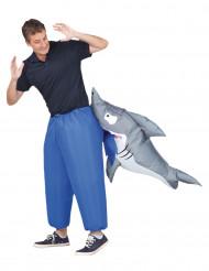 Costume gonfiabile con squalo adulto