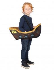 Costume da pirata dentro il suo vascello bambino