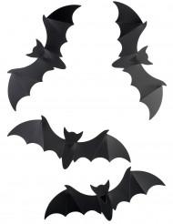 12 pipistrelli decorativi da muro Halloween