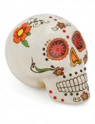 Decorazione per halloween cranio colorato dia de los muertos