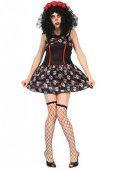Costume halloween sexy con teschi per donna