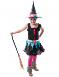 Costume strega colorata bambina halloween