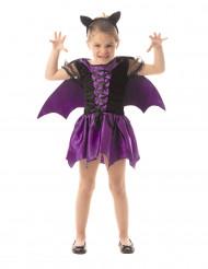 Costume da pipistrello viola bambina halloween